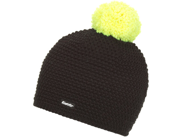 Eisbär Jamie Bonnet Pompon Homme, black/light yellow